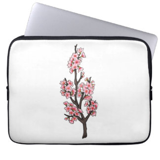 Cherry Blossoms Neoprene Laptop Sleeve 13 inch