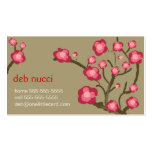 Cherry Blossoms on Khaki Business Card