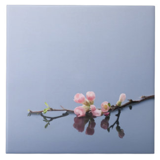 Cherry blossoms on water tile