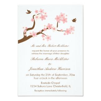 Cherry Blossoms on White 13 Cm X 18 Cm Invitation Card