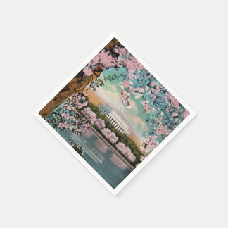 Cherry Blossoms Paper Napkins Disposable Napkin
