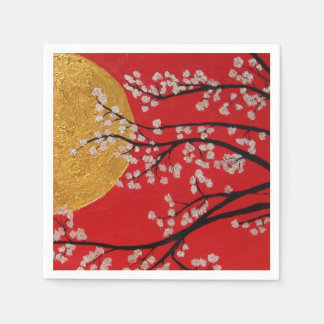 Cherry Blossoms - paper Napkins Disposable Serviette
