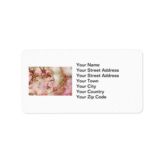 Cherry Blossoms Photo Label