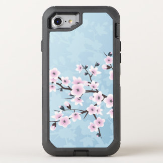 Cherry Blossoms Pink Blue OtterBox Defender iPhone 8/7 Case