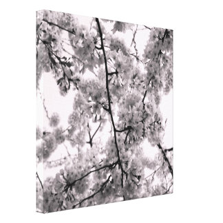 'Cherry Blossoms Pink' Wrapped Canvas Print