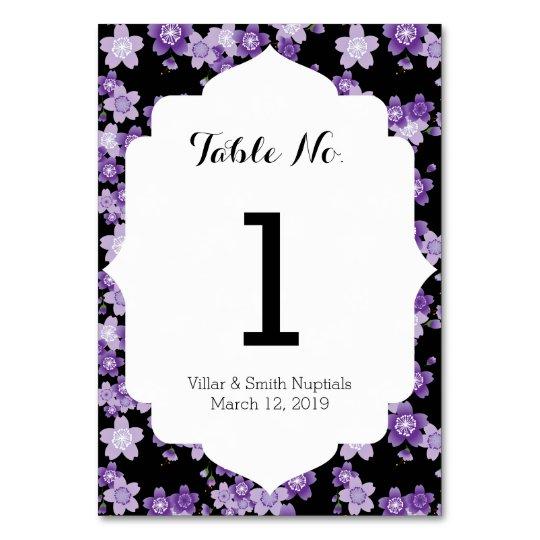 Cherry Blossoms Purple Sakura Table Card