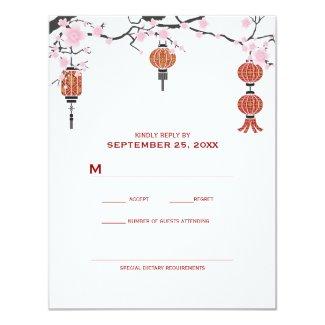 Cherry Blossoms & Red Lanterns | RSVP Cards
