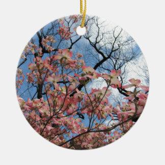 Cherry Blossoms Round Ceramic Decoration