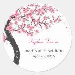 Cherry Blossoms Round Favour Sticker