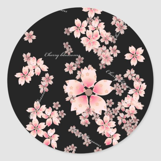 Cherry-blossoms Round Sticker