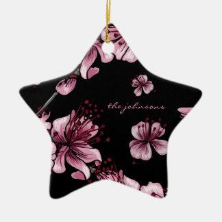 Cherry Blossoms Sakura Ceramic Star Decoration