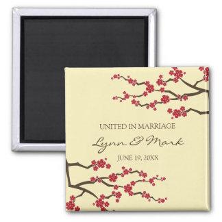 Cherry Blossoms Sakura Flowers Tree Save The Date Magnet