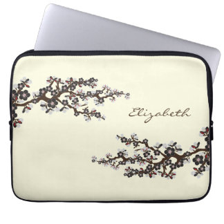 Cherry Blossoms Sakura Laptop Sleeve (black)