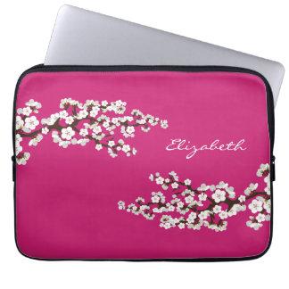 Cherry Blossoms Sakura Laptop Sleeve (fuschia)
