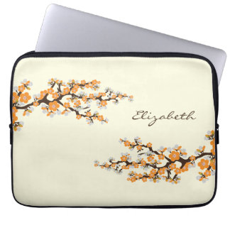 Cherry Blossoms Sakura Laptop Sleeve (orange)