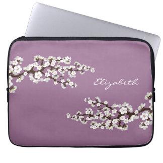Cherry Blossoms Sakura Laptop Sleeve (purple)