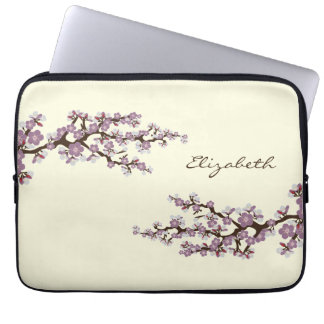 Cherry Blossoms Sakura Laptop Sleeve (purple)