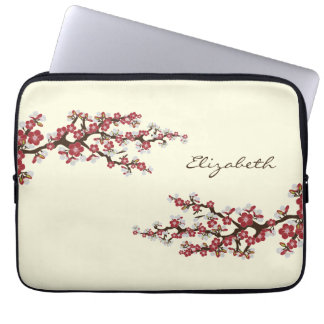Cherry Blossoms Sakura Laptop Sleeve (red)