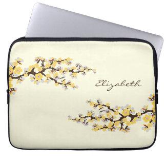 Cherry Blossoms Sakura Laptop Sleeve (yellow)