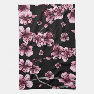Cherry Blossoms Sakura Tea Towel
