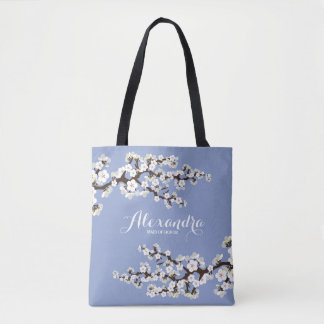 Cherry Blossoms Sakura Wedding Party Tote (lilac)