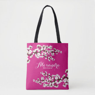 Cherry Blossoms Sakura Wedding Party Tote (pink)