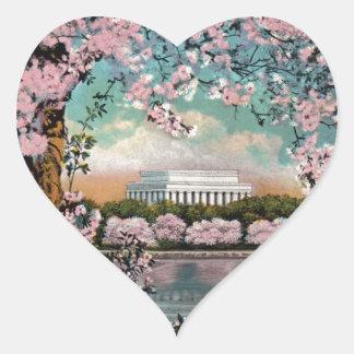 Cherry Blossoms Heart Sticker