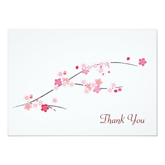 Cherry Blossoms Thank You Card