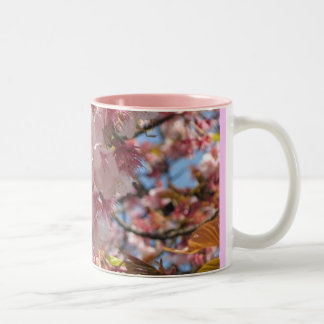 Cherry Blossoms Two-Tone Coffee Mug