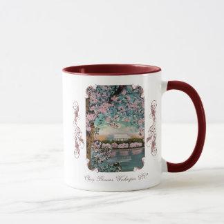 Cherry Blossoms Victorian Coffee Mug