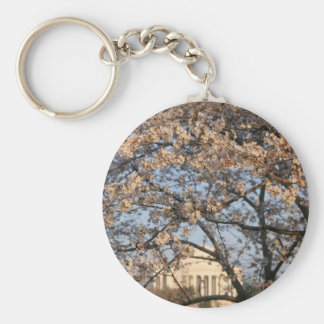 Cherry Blossoms Washington DC Basic Round Button Key Ring
