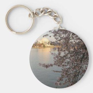 Cherry Blossoms Washington DC Key Ring
