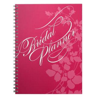 Cherry Blossoms Wedding Planner fuschia | pink Notebook