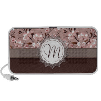 Cherry Blossoms with Lace Monogram Speakers