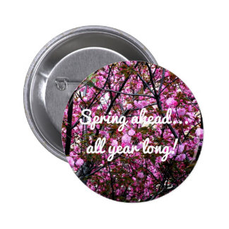 Cherry Blossoms with Text Message on Button