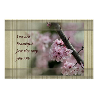 Cherry Blossoms You Are Beautiful Poster