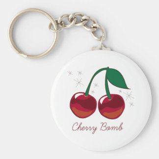 Cherry Bomb Basic Round Button Key Ring