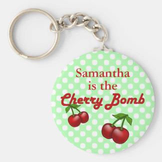 Cherry Bomb Custom Keychain