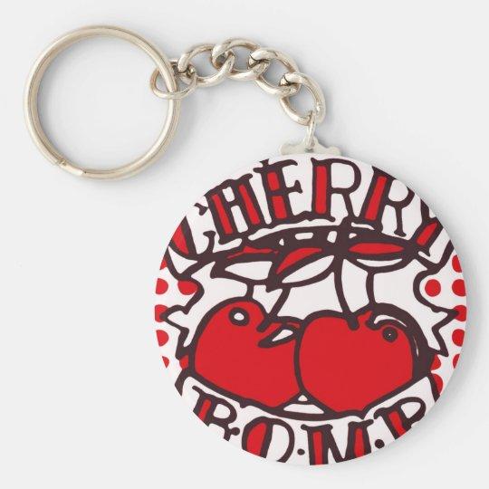 Cherry bomb design basic round button key ring