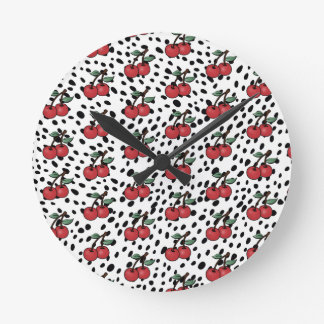 CHERRY BOMB WALL CLOCK SPECKLED PATTERN