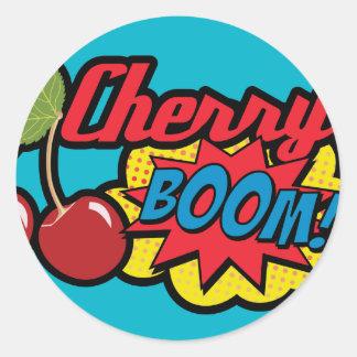 Cherry Boom! Round Sticker