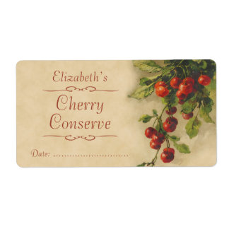 Cherry Canning label
