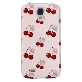 Cherry cherries girly pink pattern cute foodie galaxy s4 case