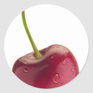 cherry classic round sticker