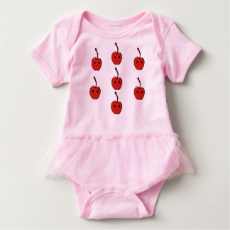 Cherry clothes baby bodysuit
