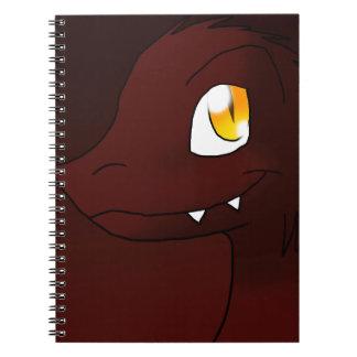 Cherry Cola Microraptor Spiral Notebooks