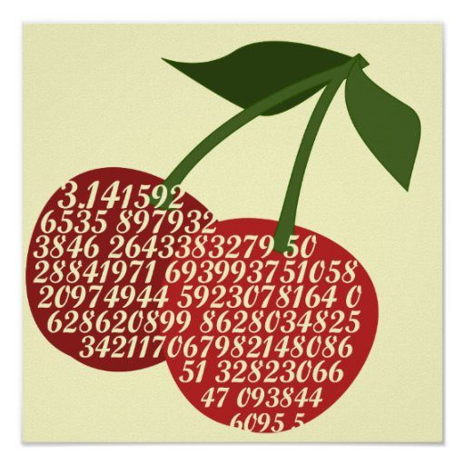 Cherry Complete Pi Poster