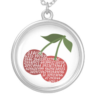 Cherry Complete Pi Silver Plated Necklace