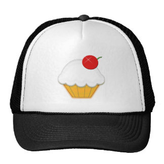 Cherry Cupcake Art Cap