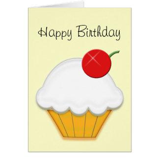 Cherry Cupcake Art Greeting Card